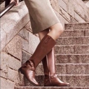 Tory Burch Derby riding boots in Almond